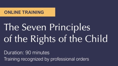 Online training - 7 principles of the rights of the child