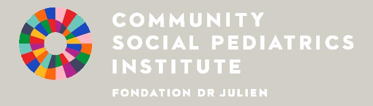 Community Social Pediatrics Institute Logo - White